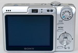 Sony DSC W55BDL Manual - camera rear side