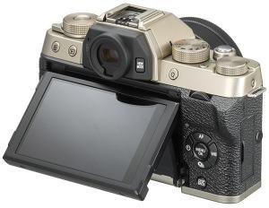 Fujifilm X-T100 - camera rear side