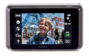 Sony DSC T110 Manual - camera rear side