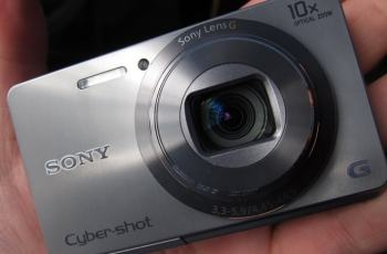 Sony DSC W690 Manual - camera front face