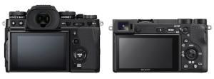 Fujifilm X-T3 vs. Sony A6500 : LCD