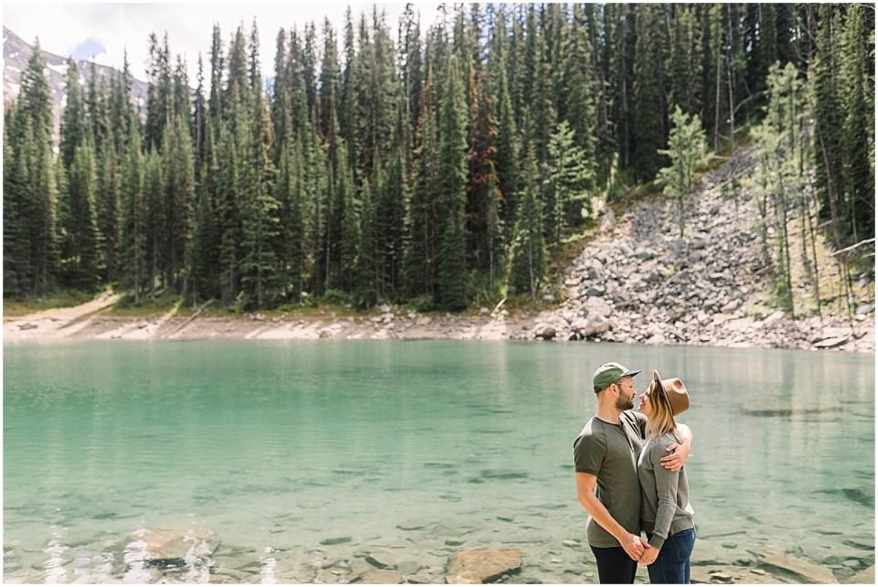 Destination Engagement Session Travel Explore Elopement Photographer at Banff National Park