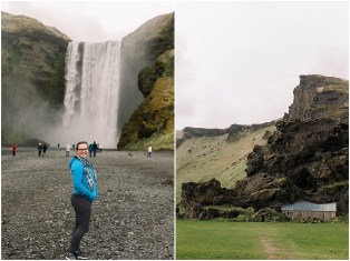 Adventurous Elopement and Wedding Photographer in Iceland at the Waterfalls