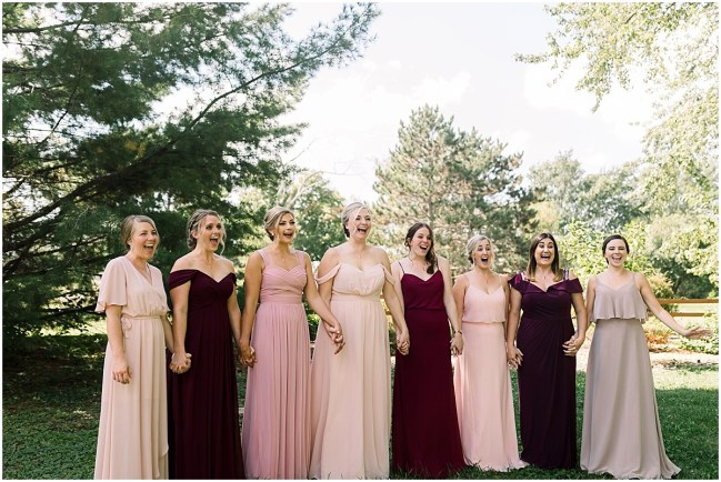 Bridesmaids reveal at Terra Nue Farm