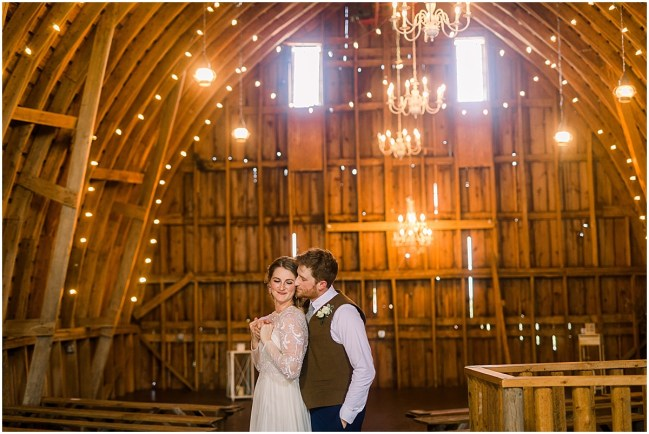Hipster bride and groom at Terra Nue Farm on their wedding day