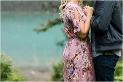 Emerald Lake Engagement Adventure Session in Banff National Park