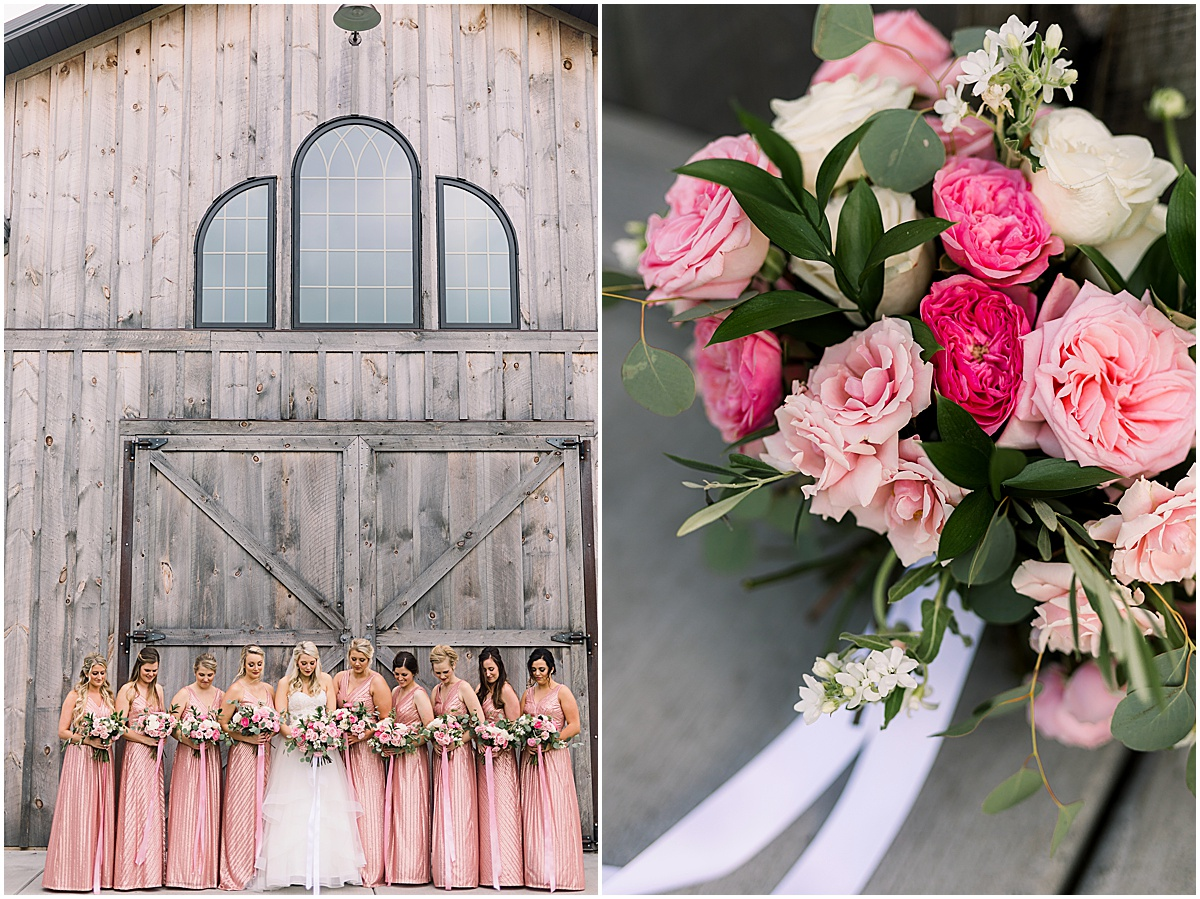 Origin and Bloom Florals at Creekside Farm photographed by Cameron and Tia Minneapolis Wedding Photography