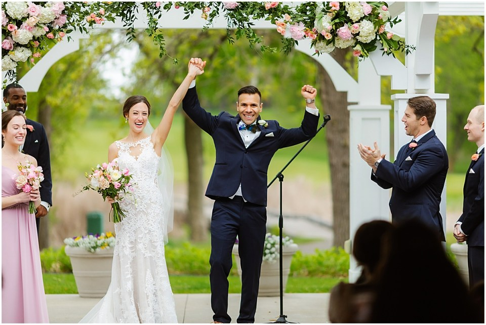 Bearpath Country Club Spring  Wedding ceremony excitement
