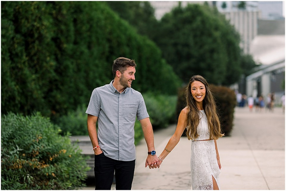 Chicago Destination Engagement Session Travel Cameron and Tia Photography