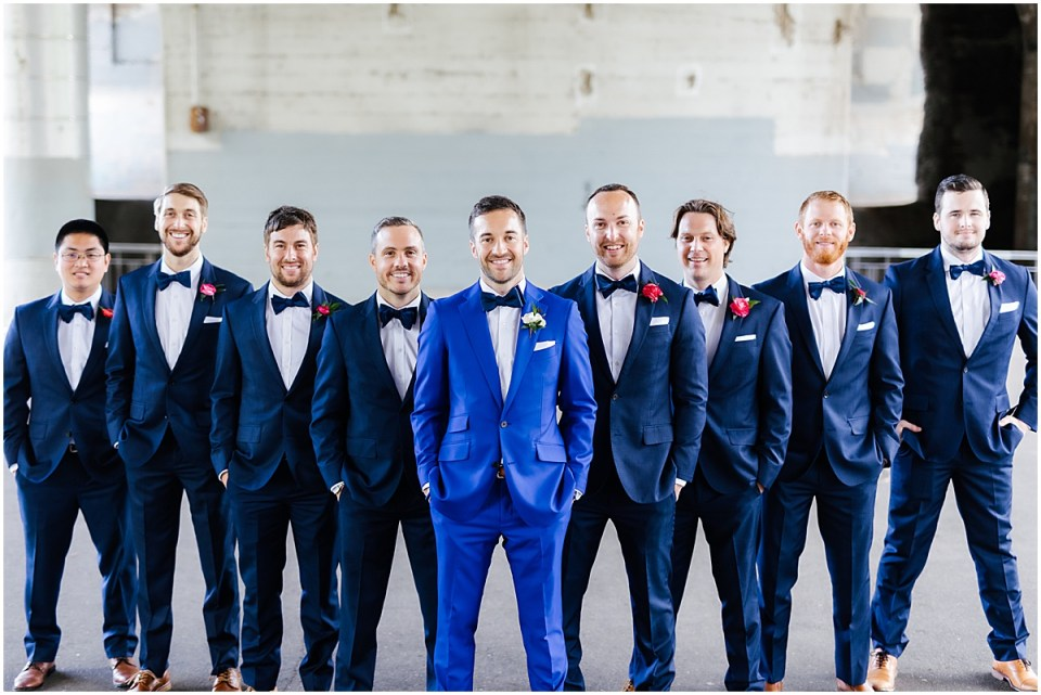 Minneapolis Event Centers Spring Wedding groomsmen