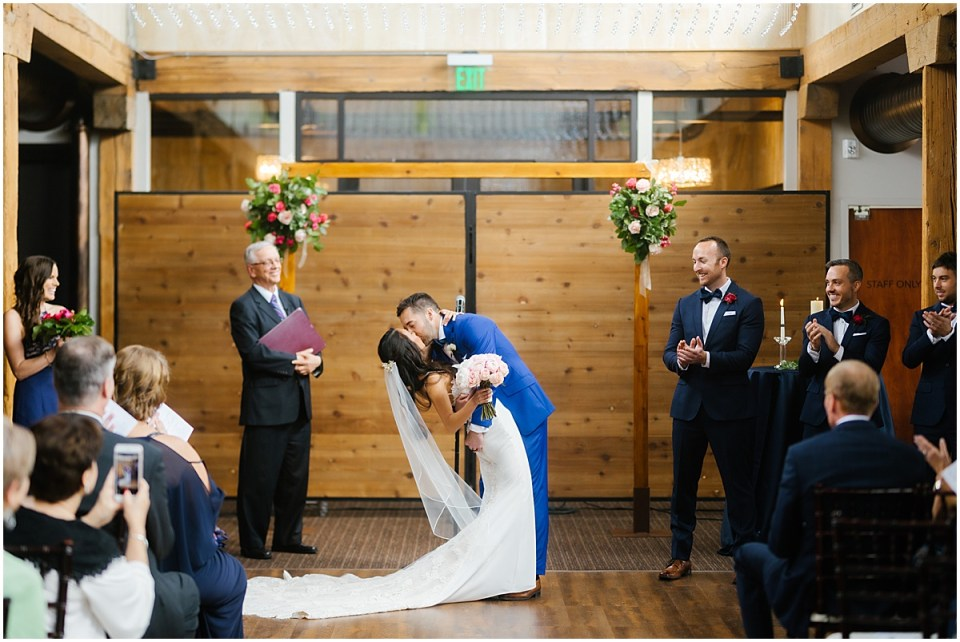 Minneapolis Event Centers Spring Wedding ceremony in riverside room