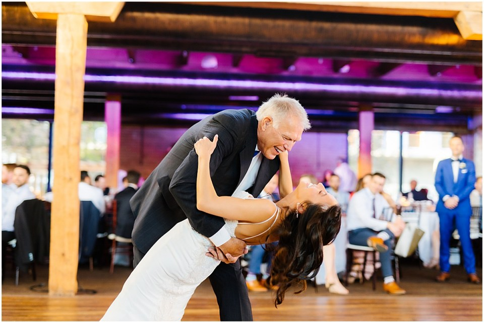 Minneapolis Event Centers Spring Wedding reception in riverside room
