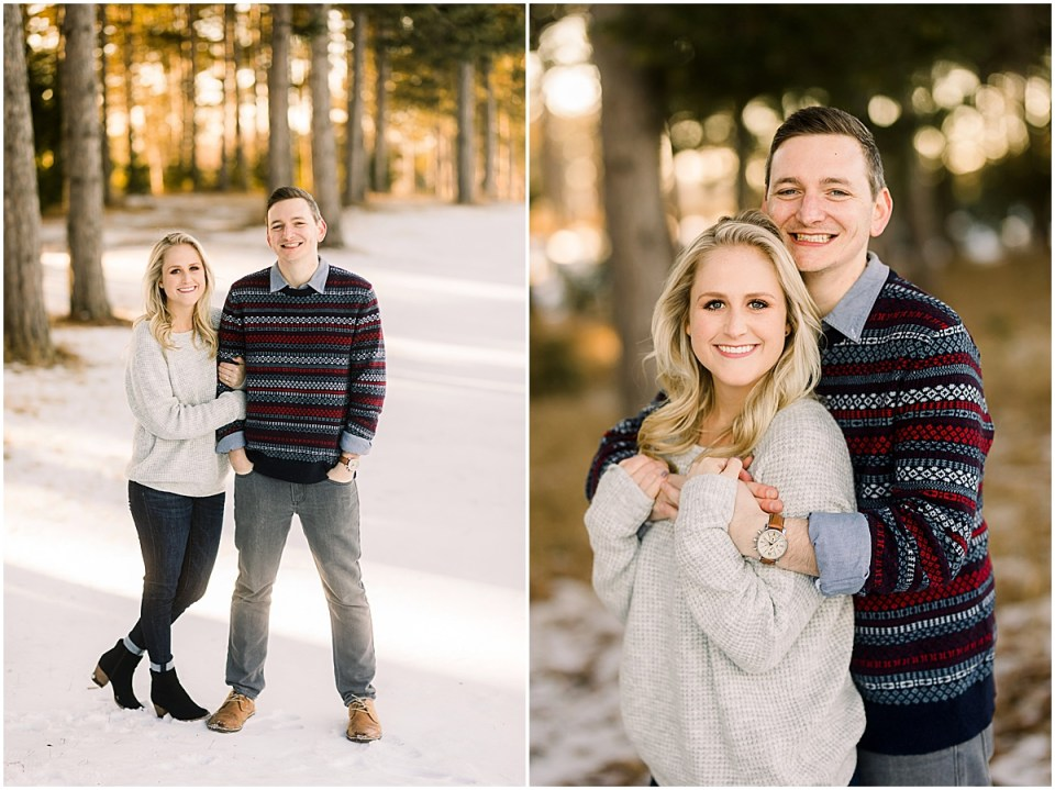 Minnesota Engagement Session in sweaters