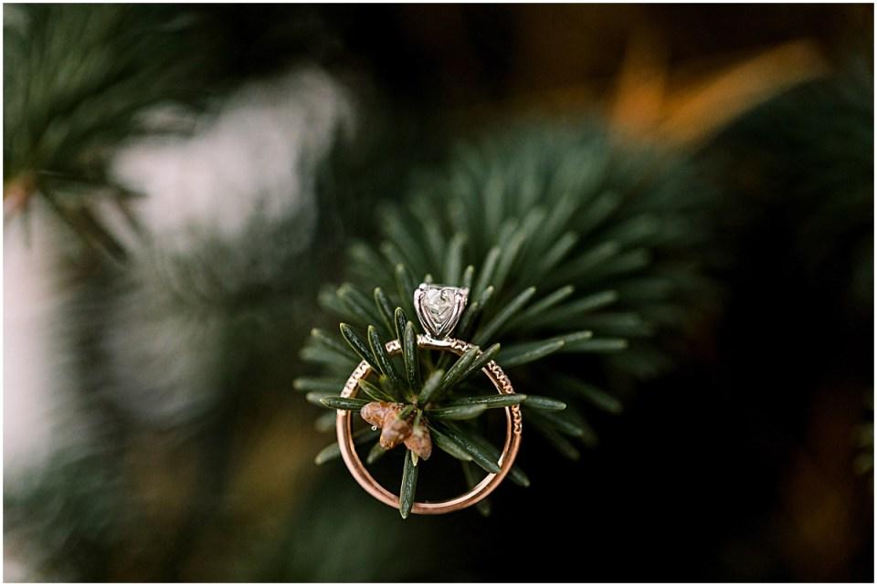 Winter Pine ring details