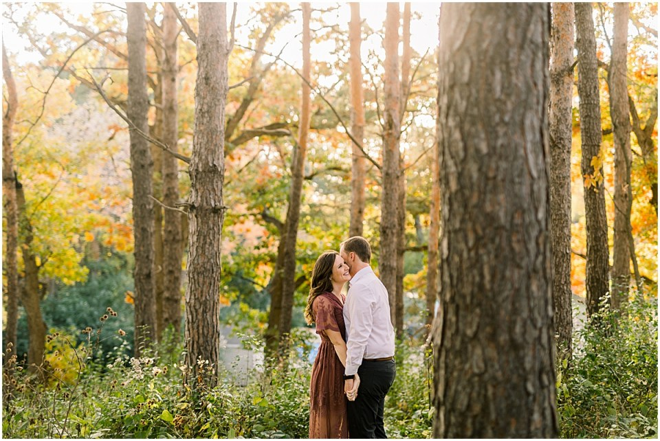 Theodore Wirth Park Minneapolis Engagement Session in beautiful long dress