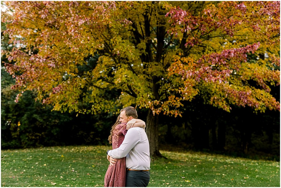 Theodore Wirth Park Minneapolis Engagement Session with fall colors
