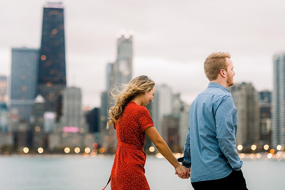Chicago North Ave Beach Destination Engagement Session