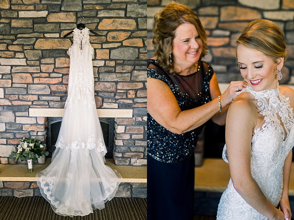 Dellwood Country Club Wedding with   lace wedding