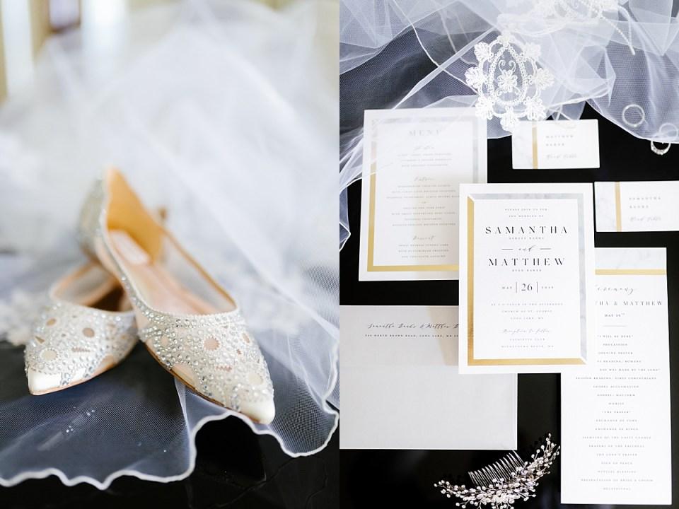 Classic Wedding Details on Grand Piona