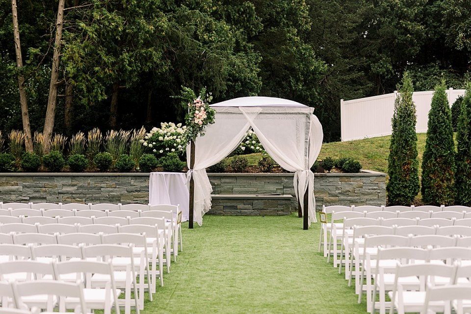 The Hutton House outdoor ceremony