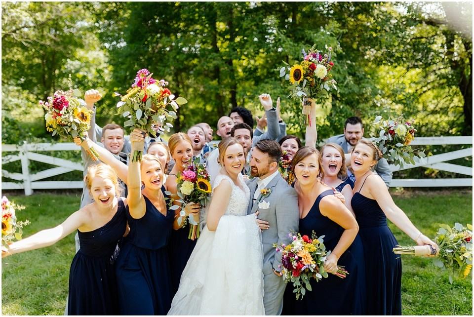 Erickson Farmstead backyard bridal party fun