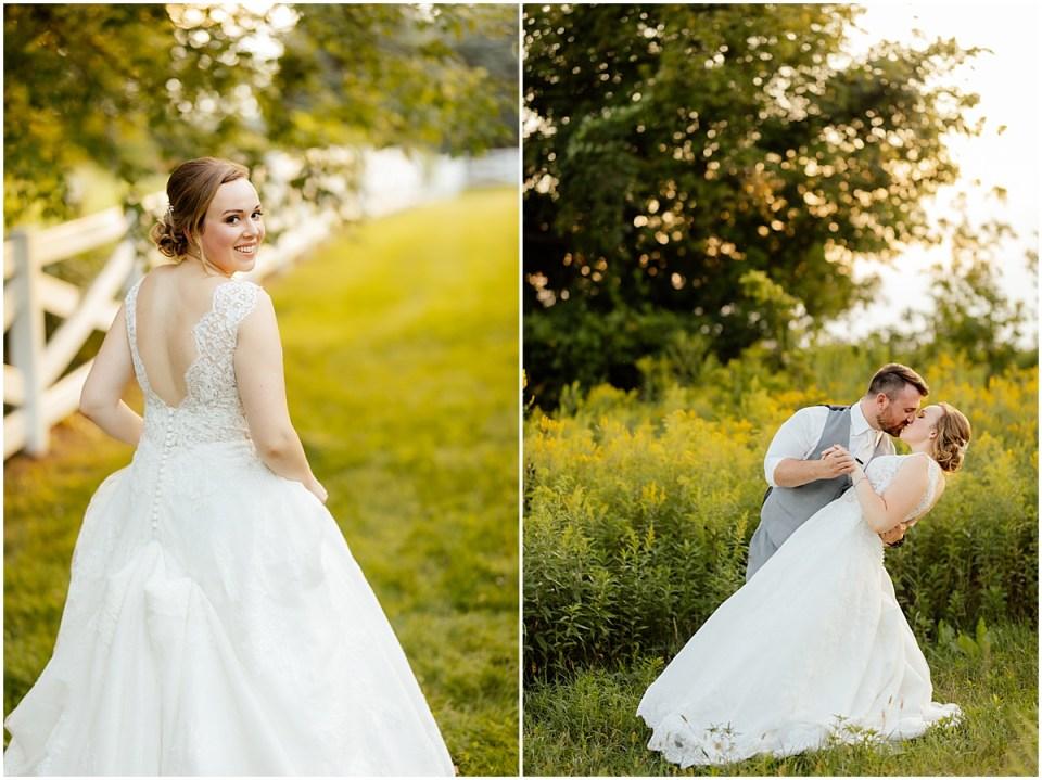 Golden Hour at Erickson Farmstead Wedding