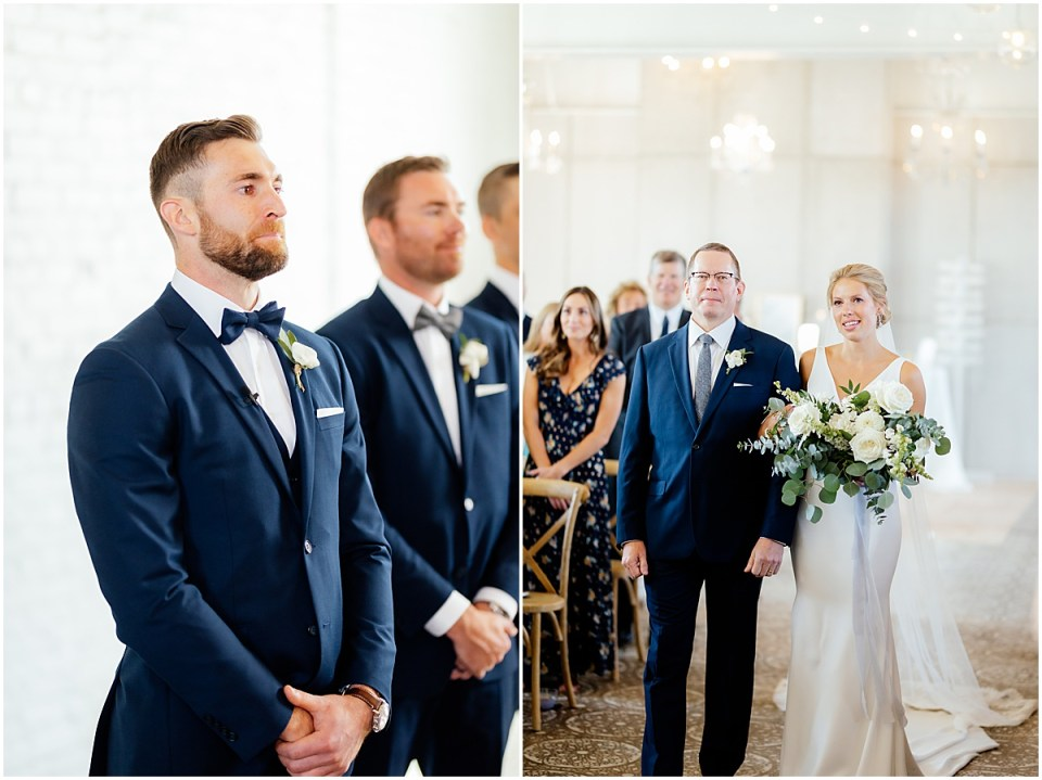 Luminary Fern Wedding Ceremony in Brainerd Minnesota
