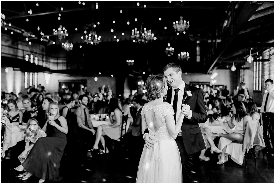 Classic black and white first dance