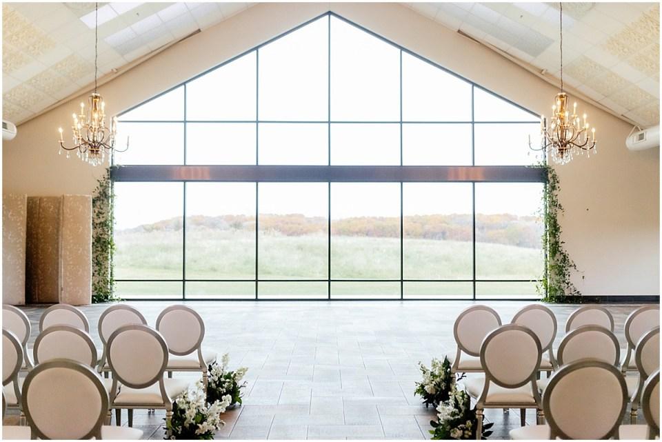 Bavaria Downs Wedding Indoor Ceremony