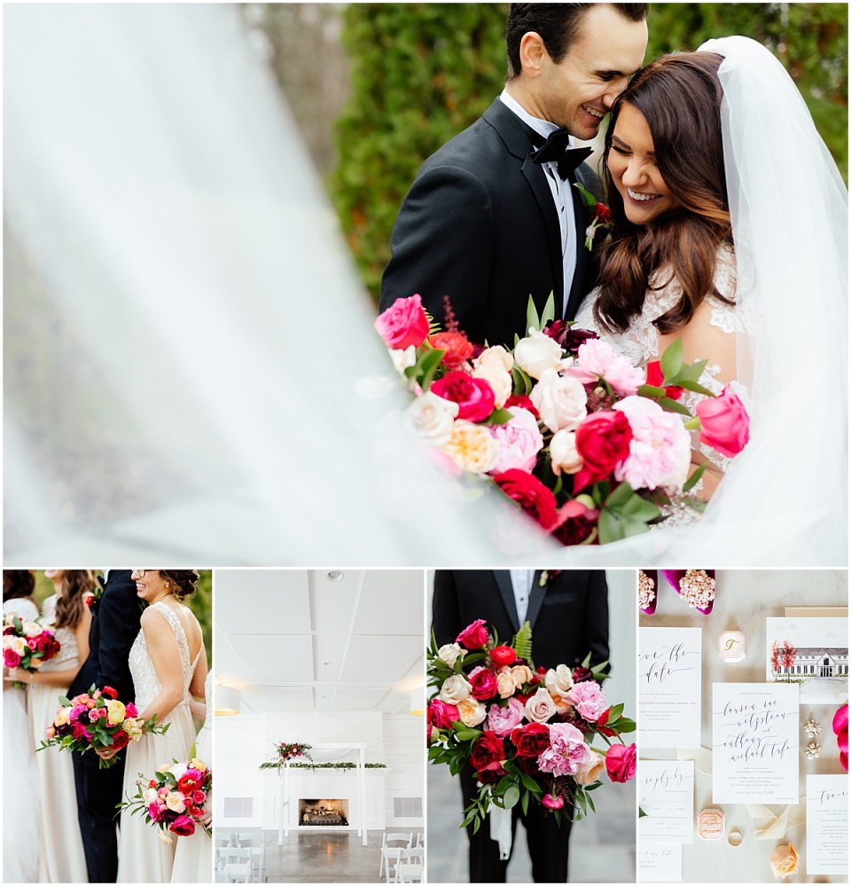 The Hutton House Wedding with Pops of Color by Ashley Skeie Weddings and photography by Cameron and Tia Photography
