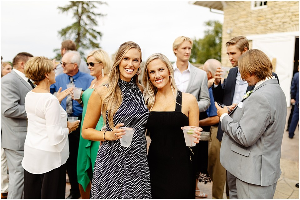 Guests Cocktail Hour at Mayowood Stone Barn, Rochester MN
