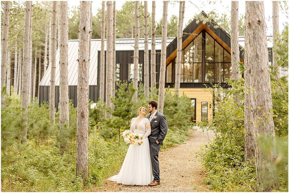 Pinewood Weddings & Events portrait of bride and groom