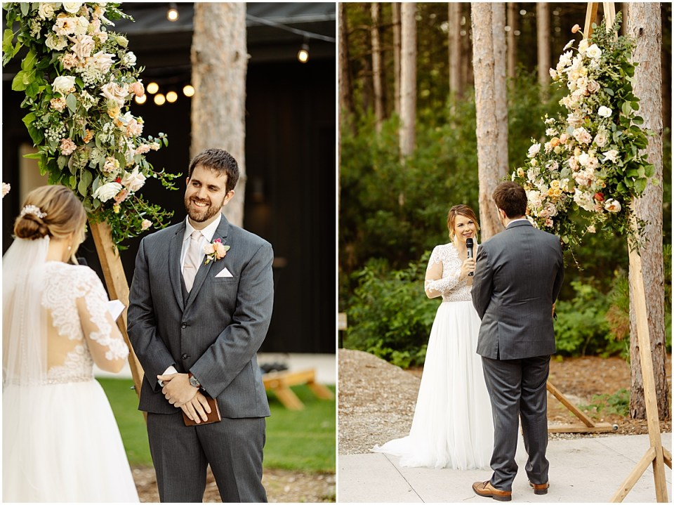 Ceremony outside at Pinewood Weddings & Events