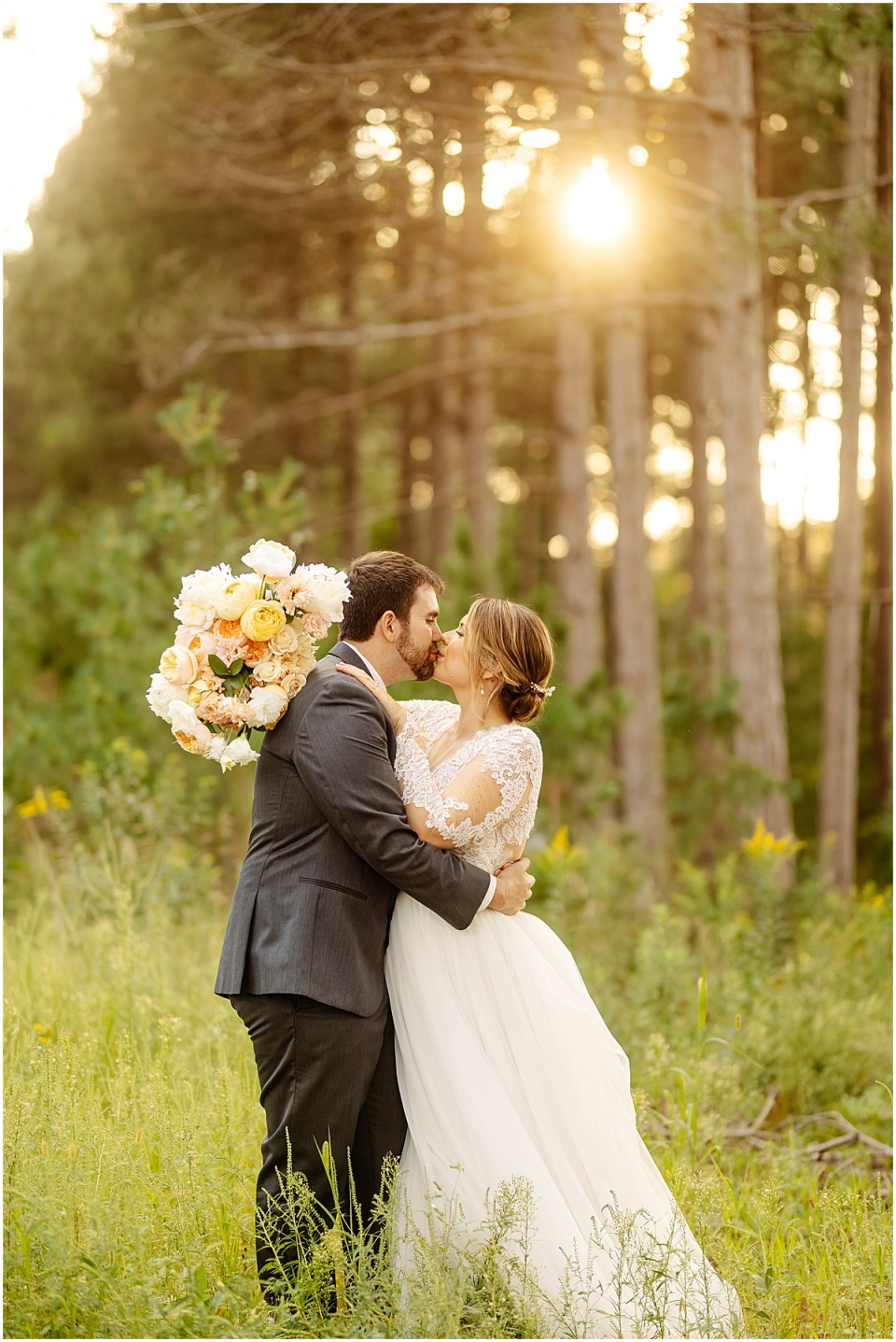sunset at Pinewood Weddings & Events