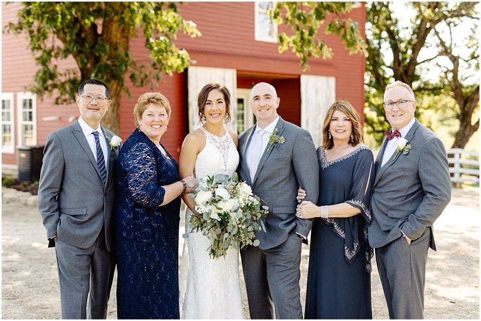 family portrait at Almquist Farm MN