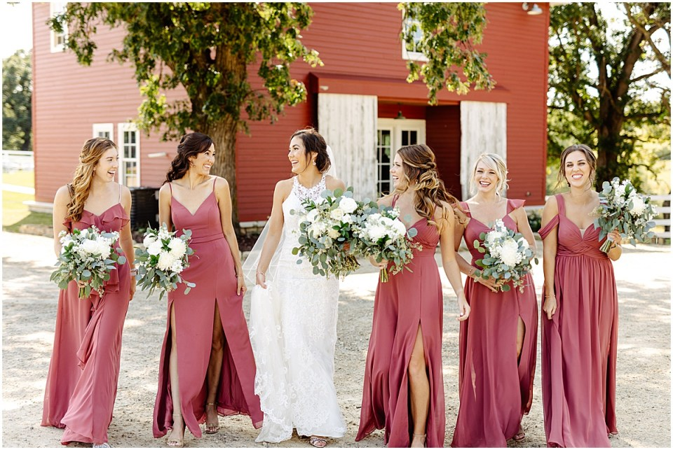 azazie bridesmaids dresses at Almquist Farm MN