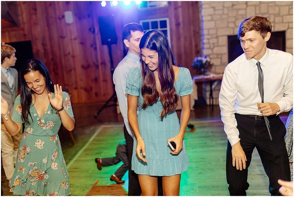 wedding dance floor at Almquist Farm MN