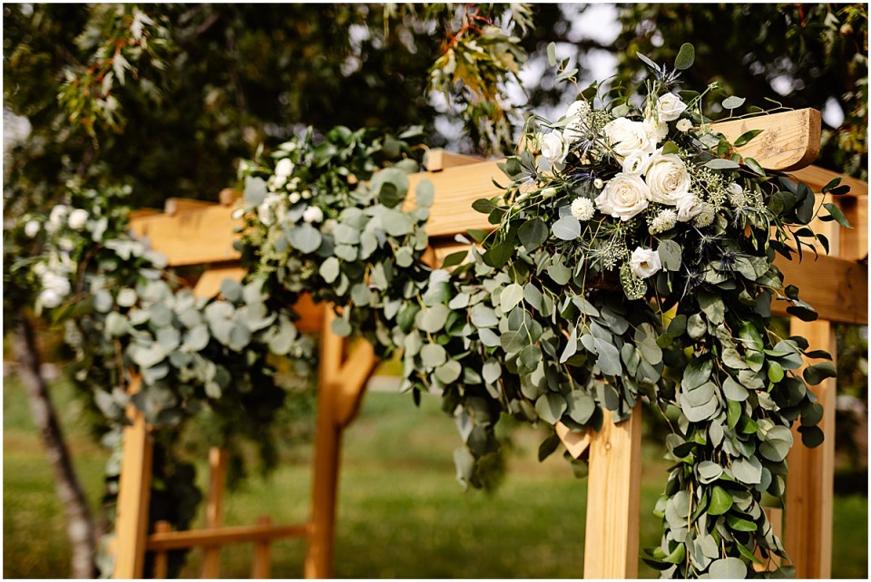 judys floral design mn outdoor ceremony at the red barn farm