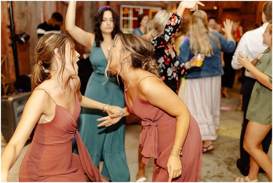dance floor at the red barn farm
