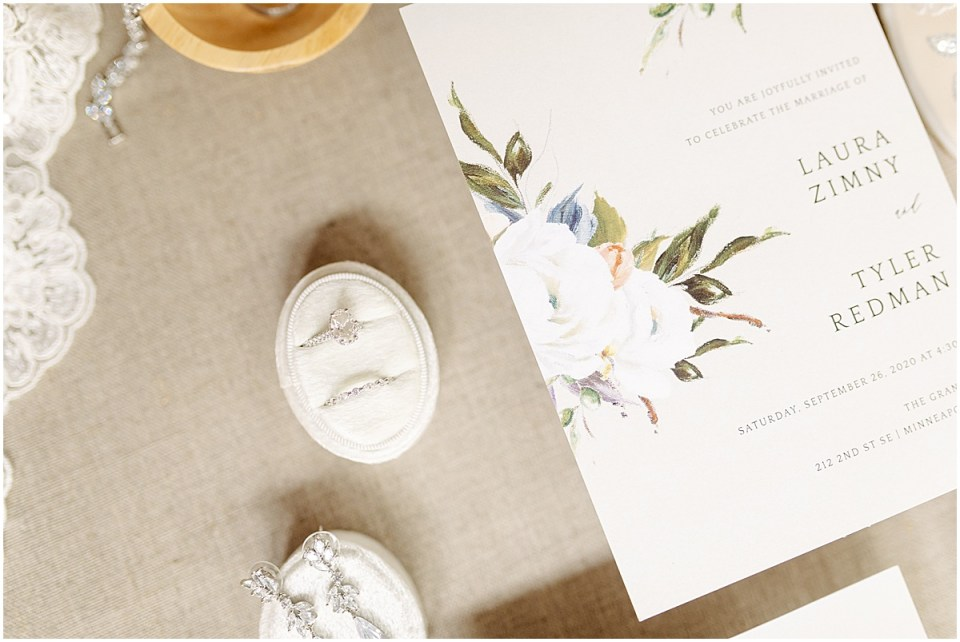 wedding decor and details at