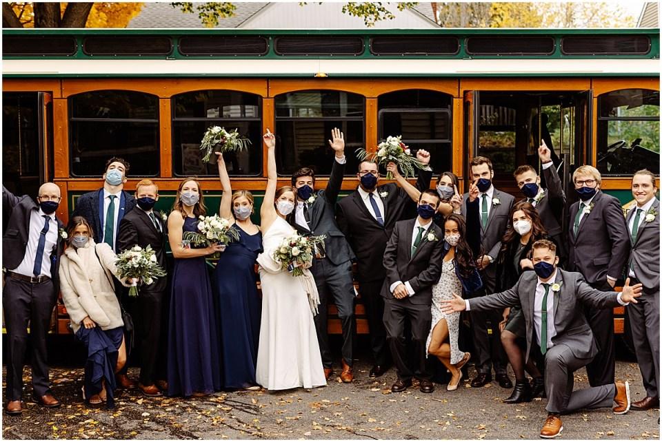 Bridal party & bus minneapolis
