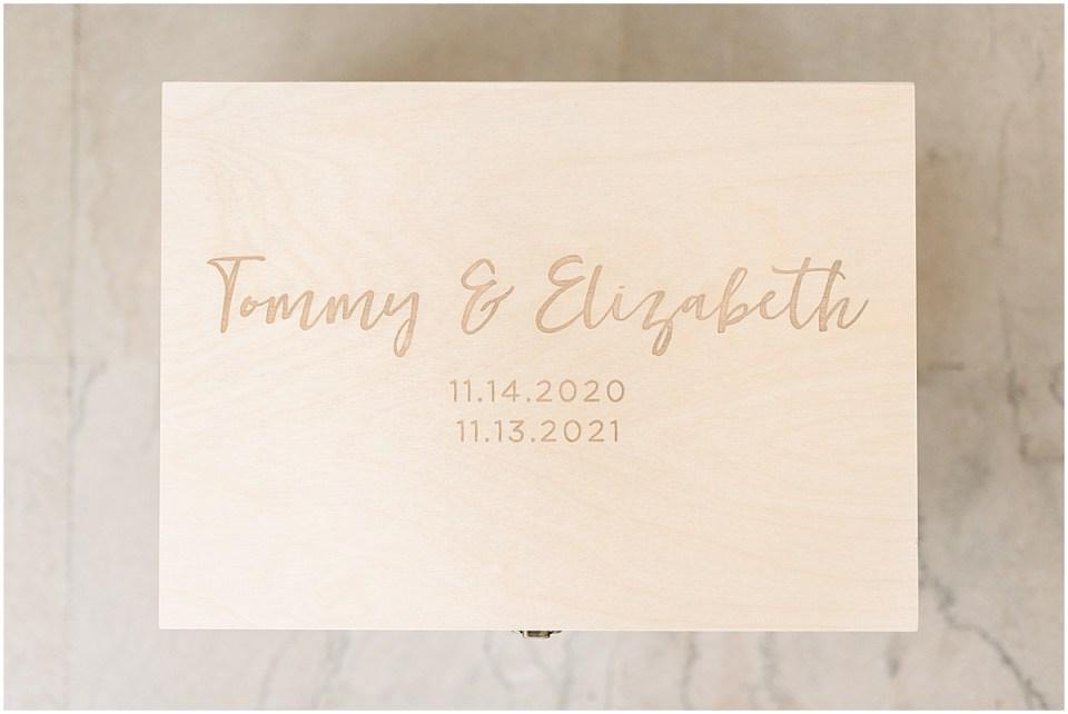 Engraved wooden wedding decor