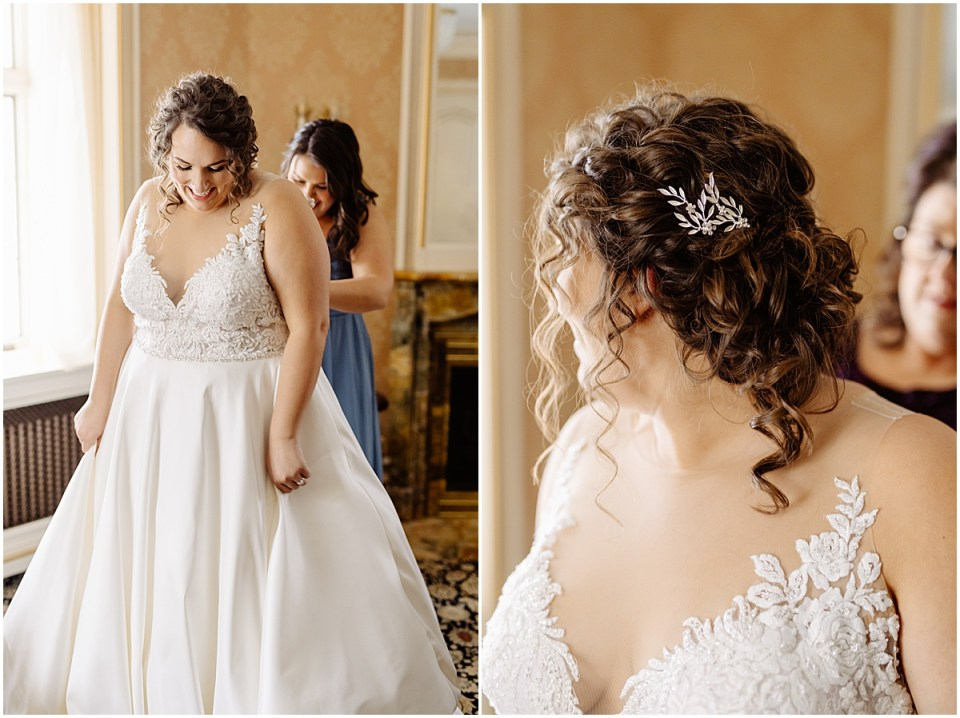 wedding dress and hair inspiration