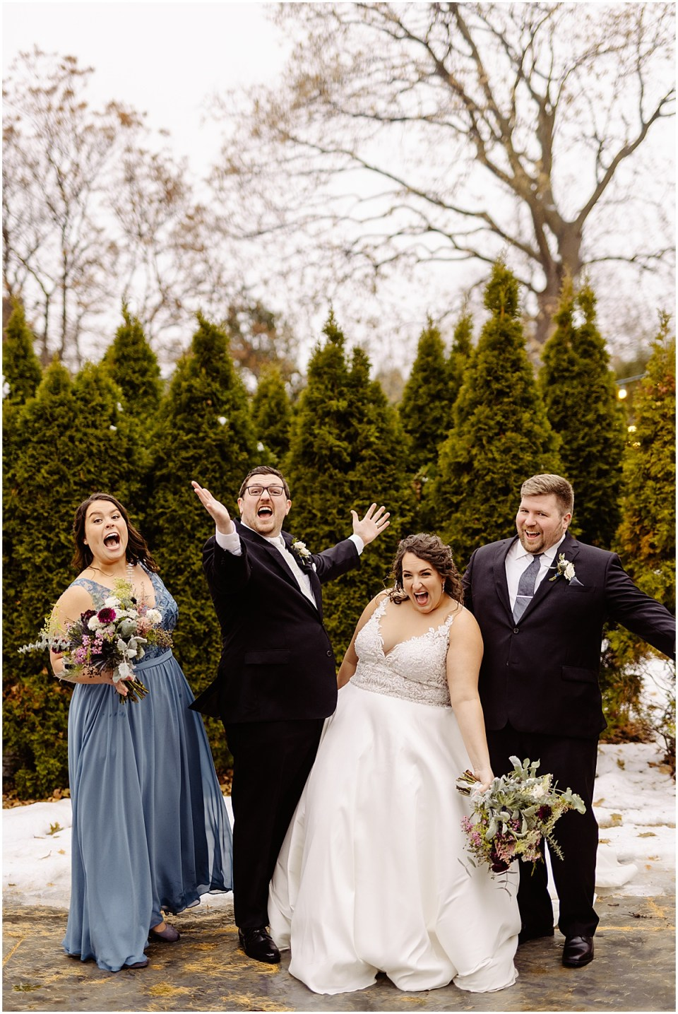 Bridal party at St. Paul College Club