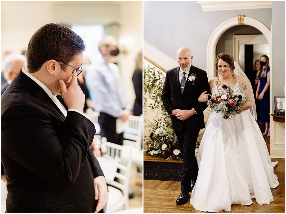 walking down the aisle at St. Paul College Club