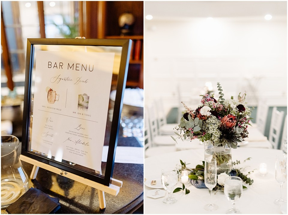 Wedding decor and details with florals by Ashley Skeie in Minnesota