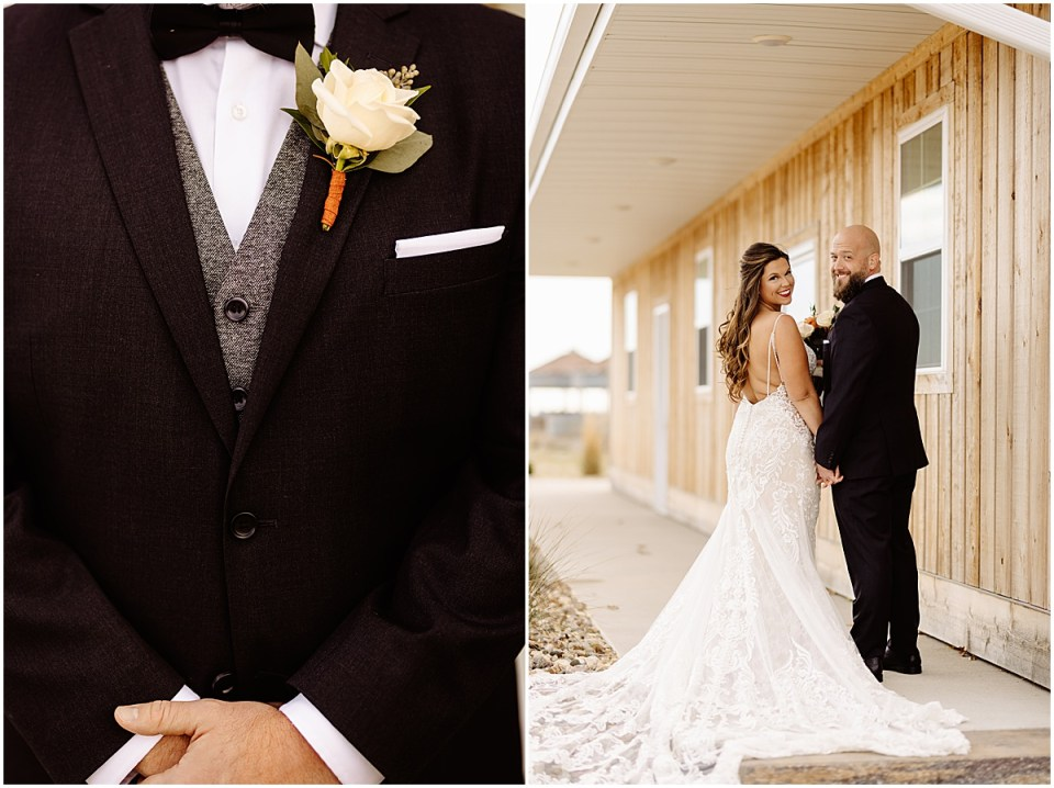 wedding dress & tux details