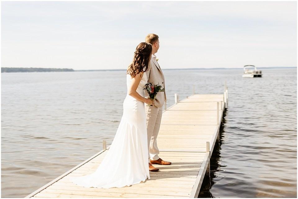 Lakeside on Gull Lake wedding