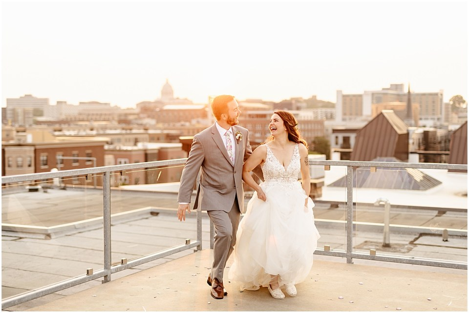 A'BULAE rooftop sunset photos at wedding