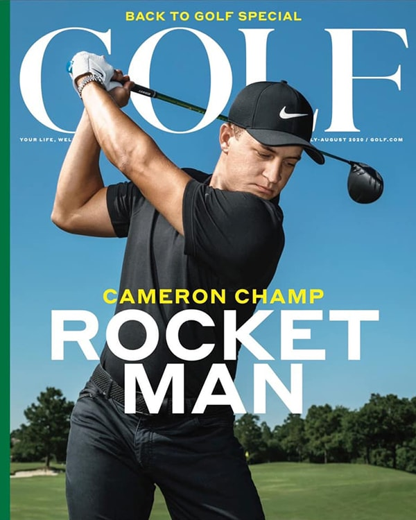 Cameron Champ Golf Magazine cover July/August 2020